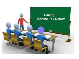 e-filing income tax return