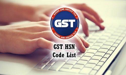 HSN Code List under GST