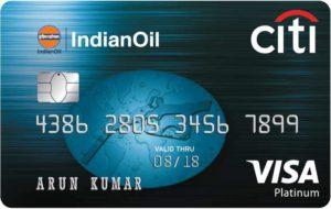 Indian Oil Platinum Citi Credit Card